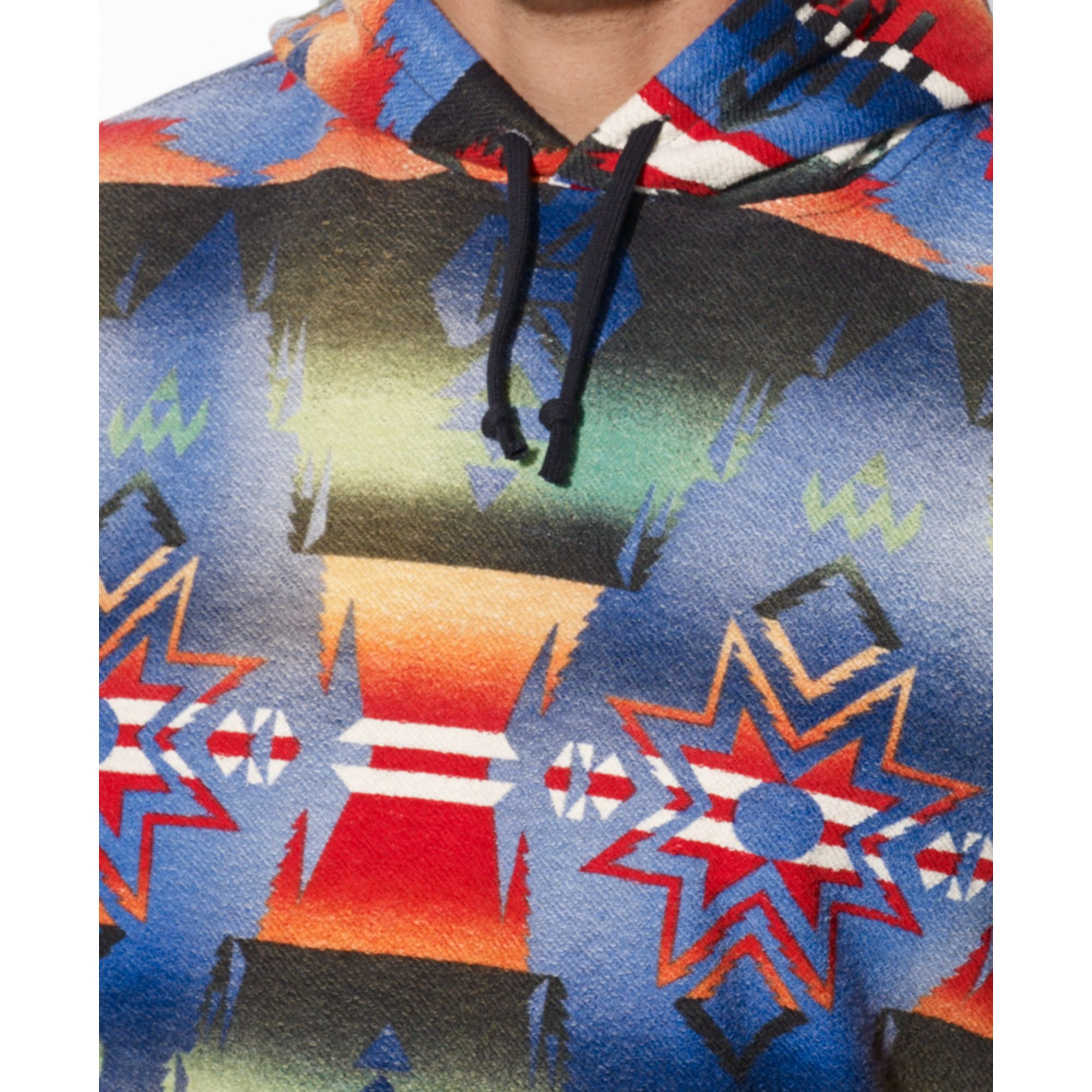 8242d04012e1 ... spain lyst ralph lauren polo patterned french terry pullover hoodie in  3706c 21417