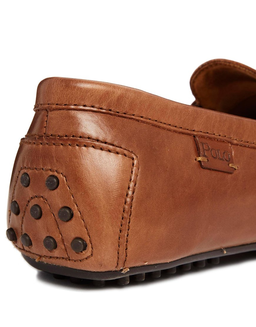 9d43f433661 Lyst - Polo Ralph Lauren Wes Loafers in Brown for Men
