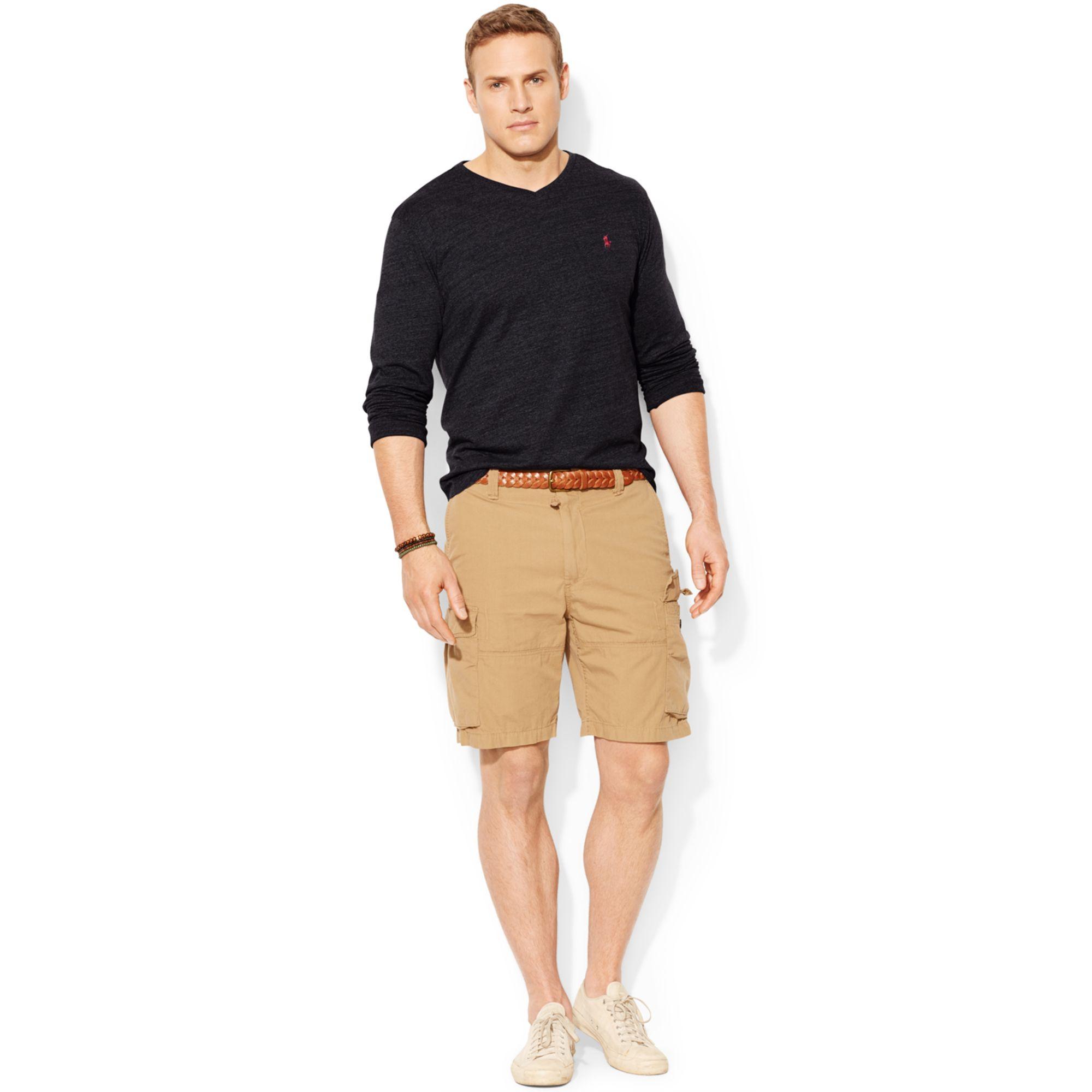 Polo Ralph Lauren Big And Tall Long Sleeve V Neck T Shirt