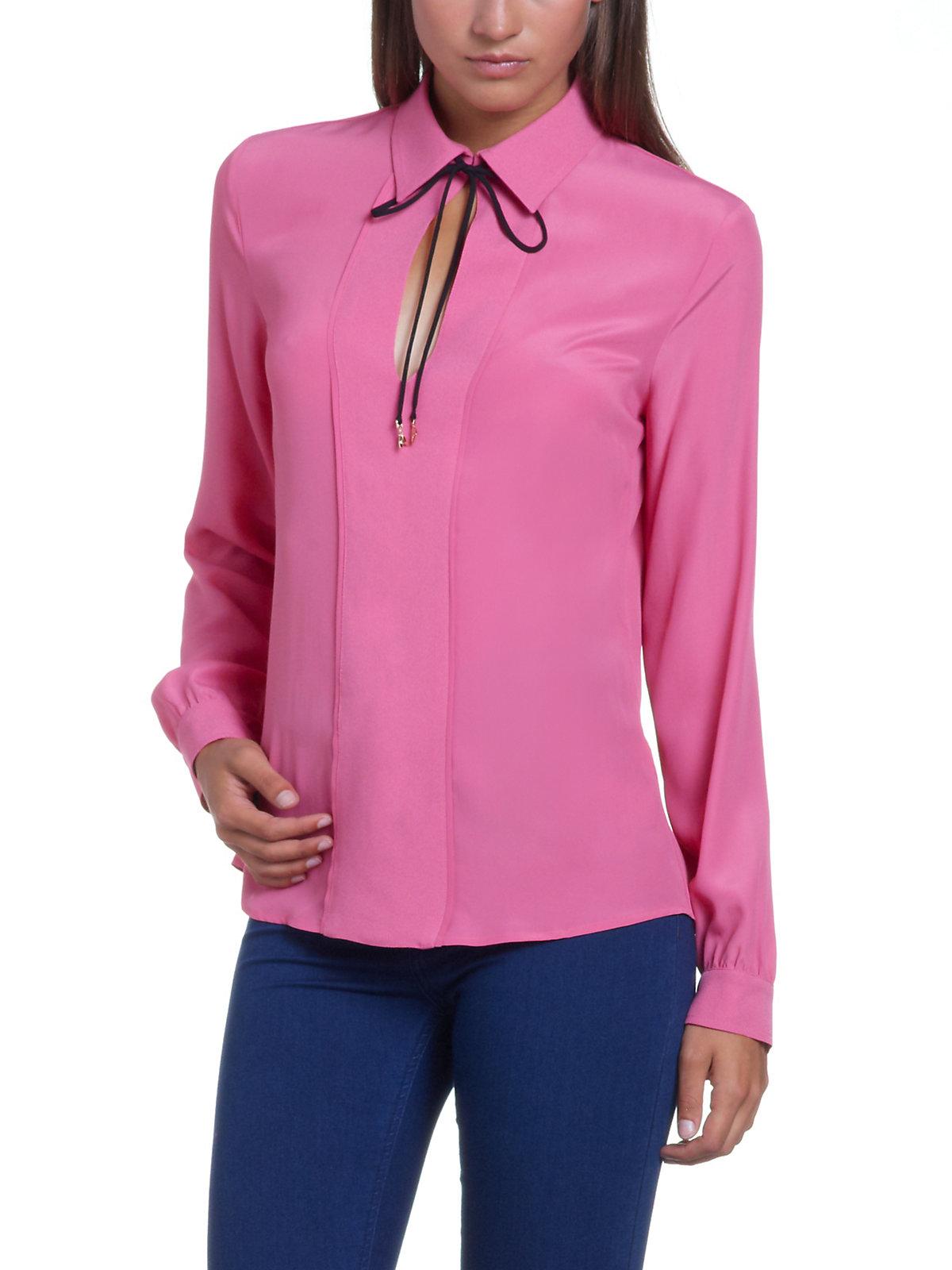 Patrizia pepe silk shirt long sleeve escapecouture in for Silk long sleeve shirt