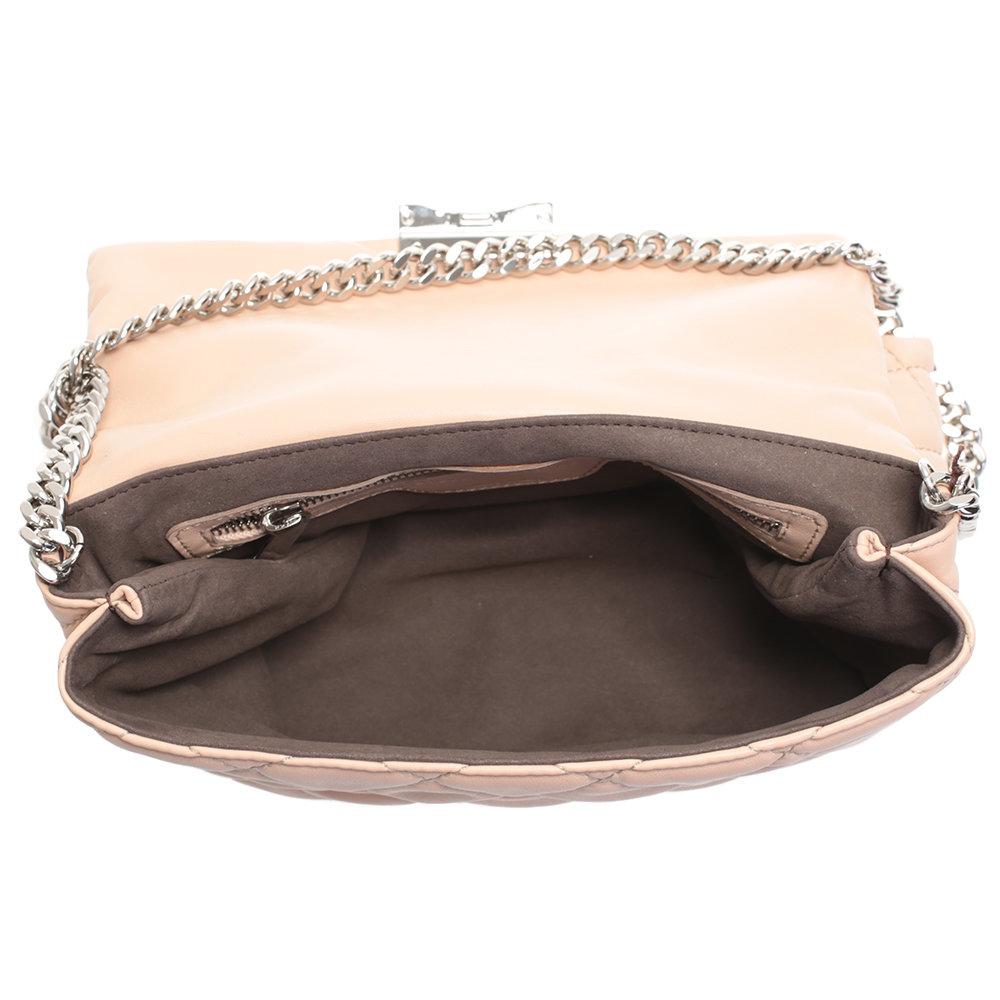 Lyst - Stella McCartney Beige Soft Beckett Bag in Pink 7d7d466f9e20e