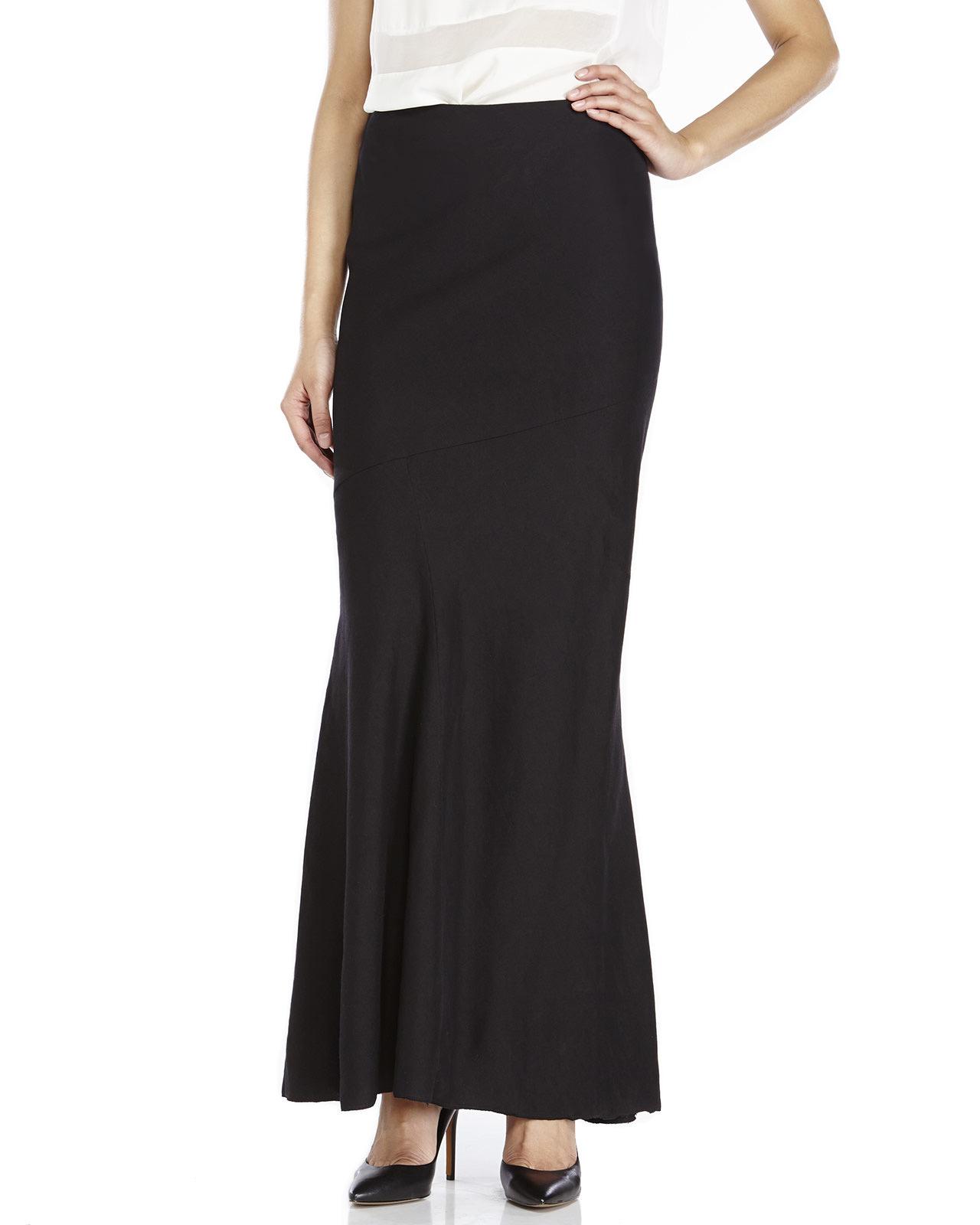 peachoo krejberg maxi skirt in black lyst