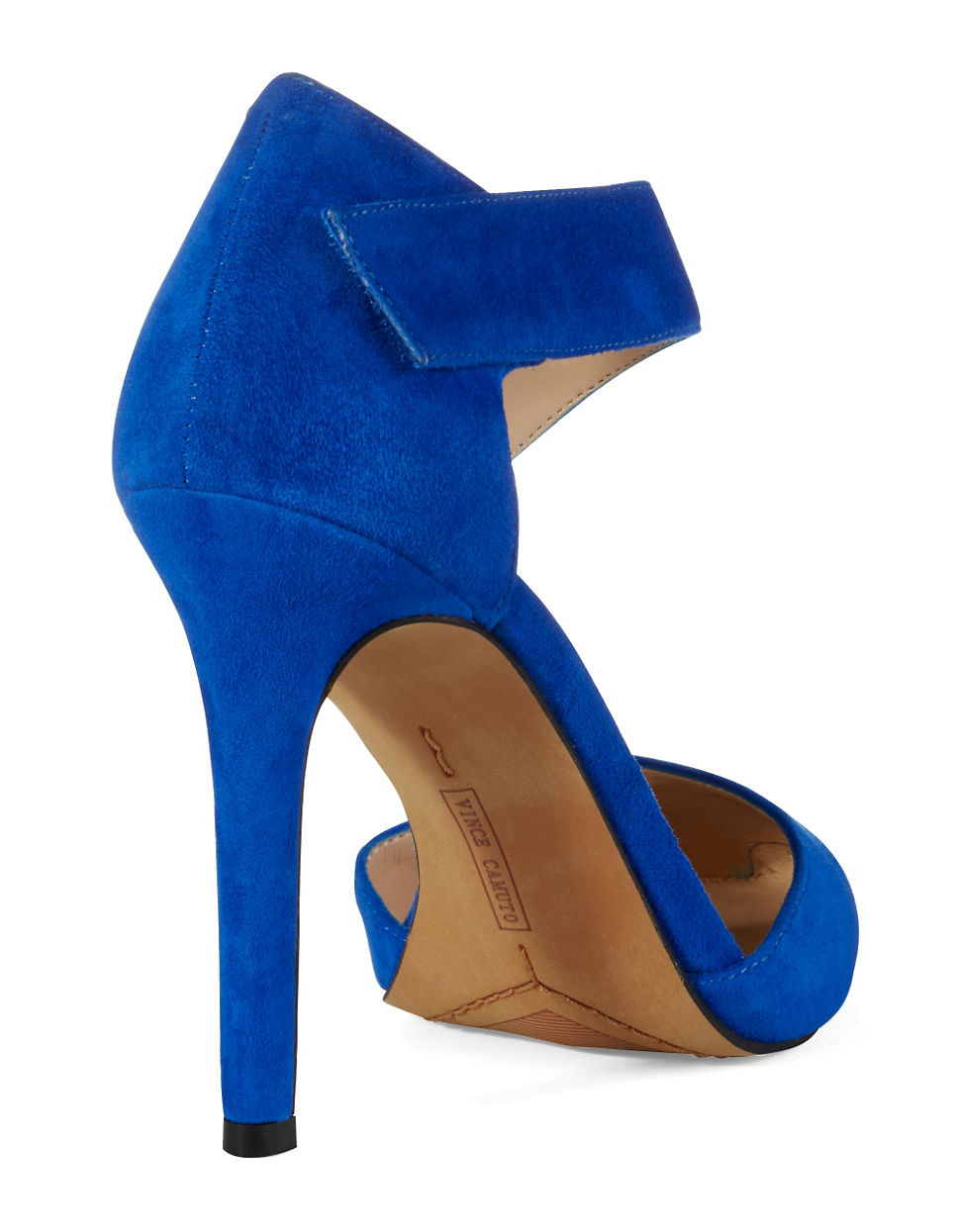 1ea38049e Vince Camuto Carlotte Suede Heels in Blue - Lyst