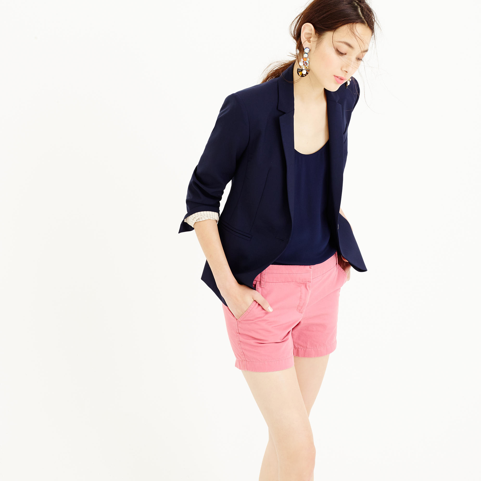 5 chino short in pink rose apple lyst for Jcrew com