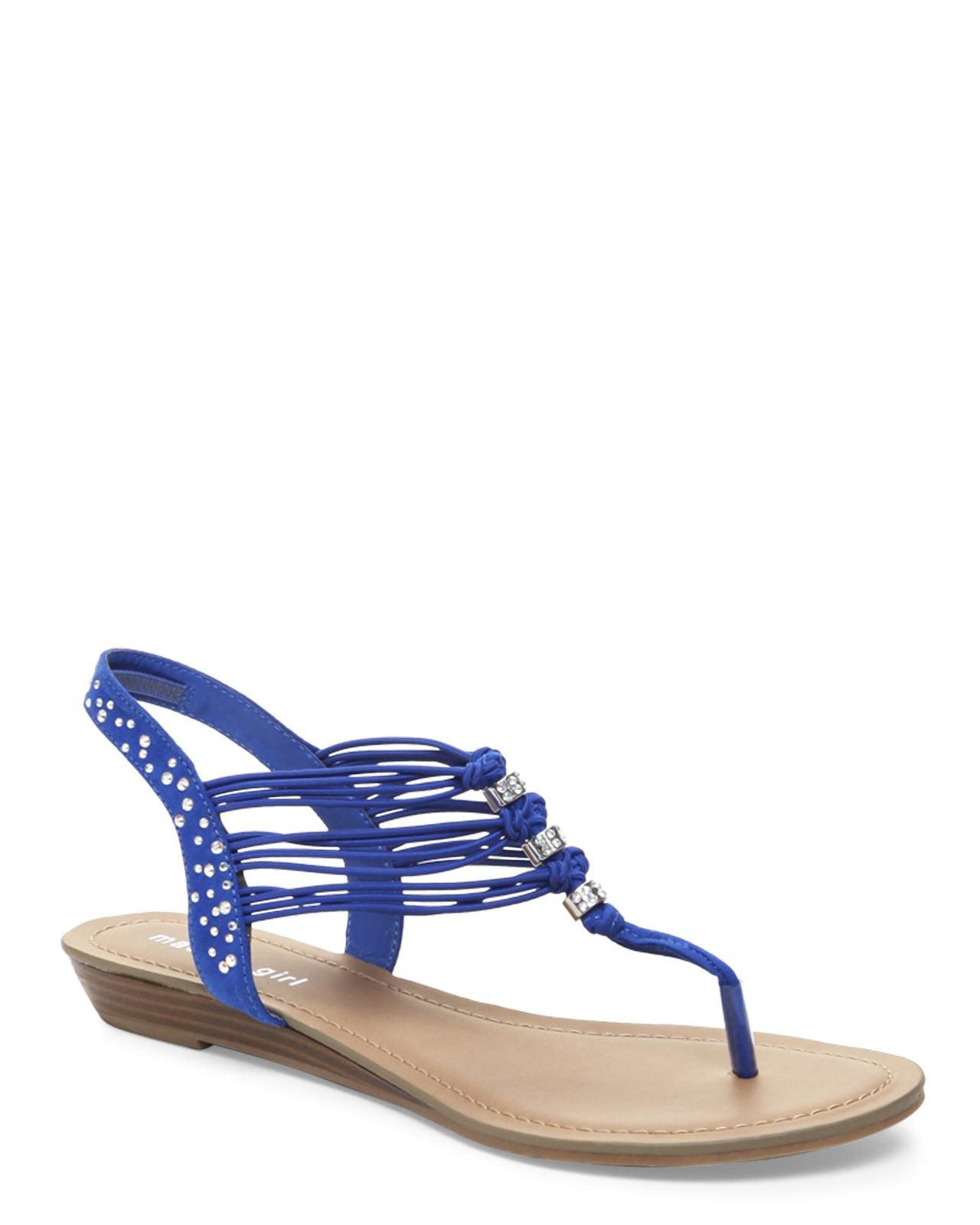 Madden Girl Blue Thrill Strappy Sandals In Blue Lyst