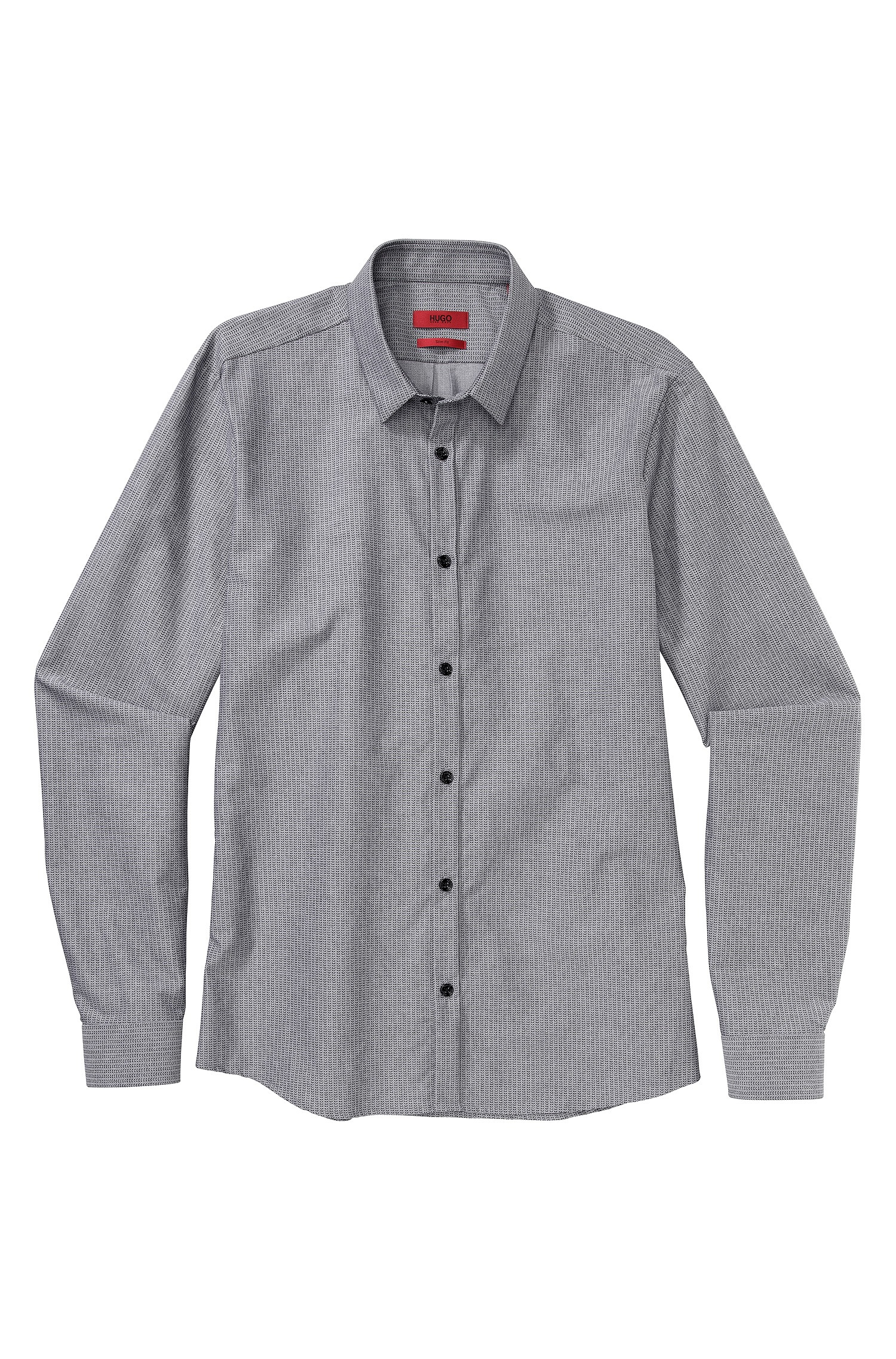 Lyst hugo ero slim fit cotton button down shirt in for Athletic fit button down shirts