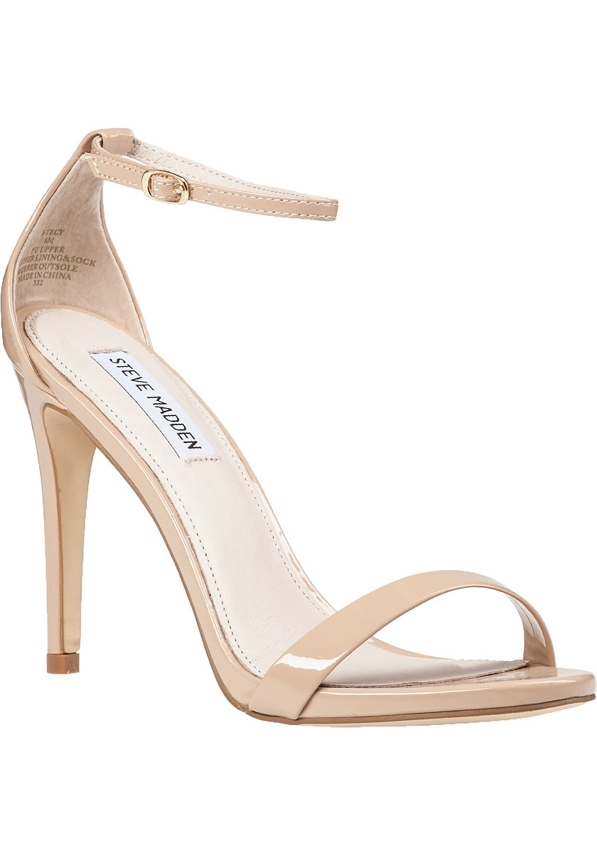 37129a271f1 Lyst - Steve Madden Stecy Ankle Strap Sandal Blush in Pink