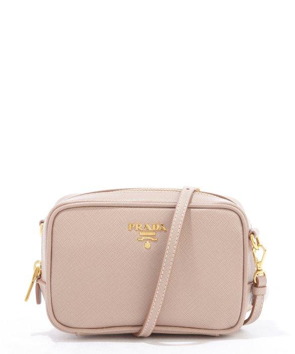 055e5fee0e6e ... closeout lyst prada dusty rose saffiano leather mini crossbody bag in  pink 31cfb 42707