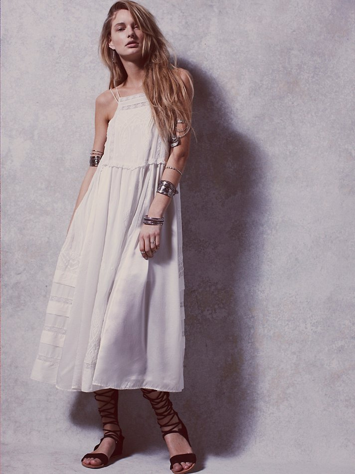 cec4a4ba40c63 Free People Womens Gemma's Limited Edition White Dress in White - Lyst