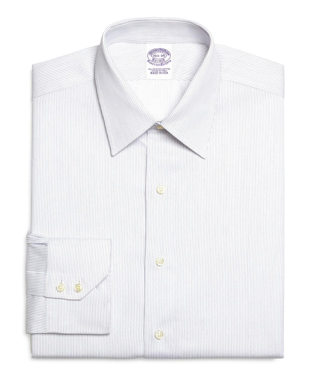 Brooks brothers extra slim fit alternating stripe dress for Best extra slim fit dress shirts
