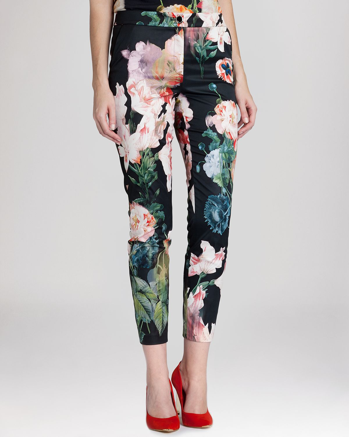 93e520fe7 Lyst - Ted Baker Odra Ethereal Posie Trousers in Black