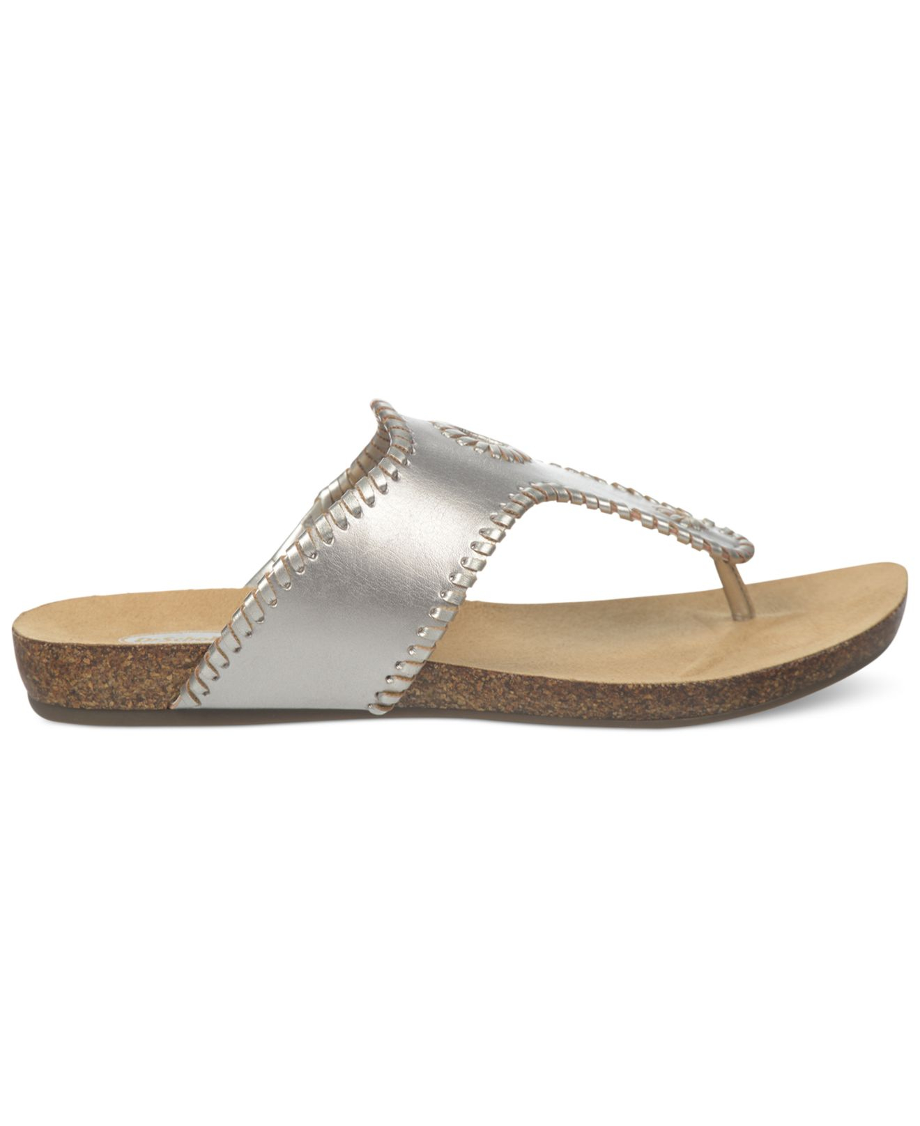 3993e76be Lyst - Dr. Scholls Ridley Footbed Thong Sandals in Metallic