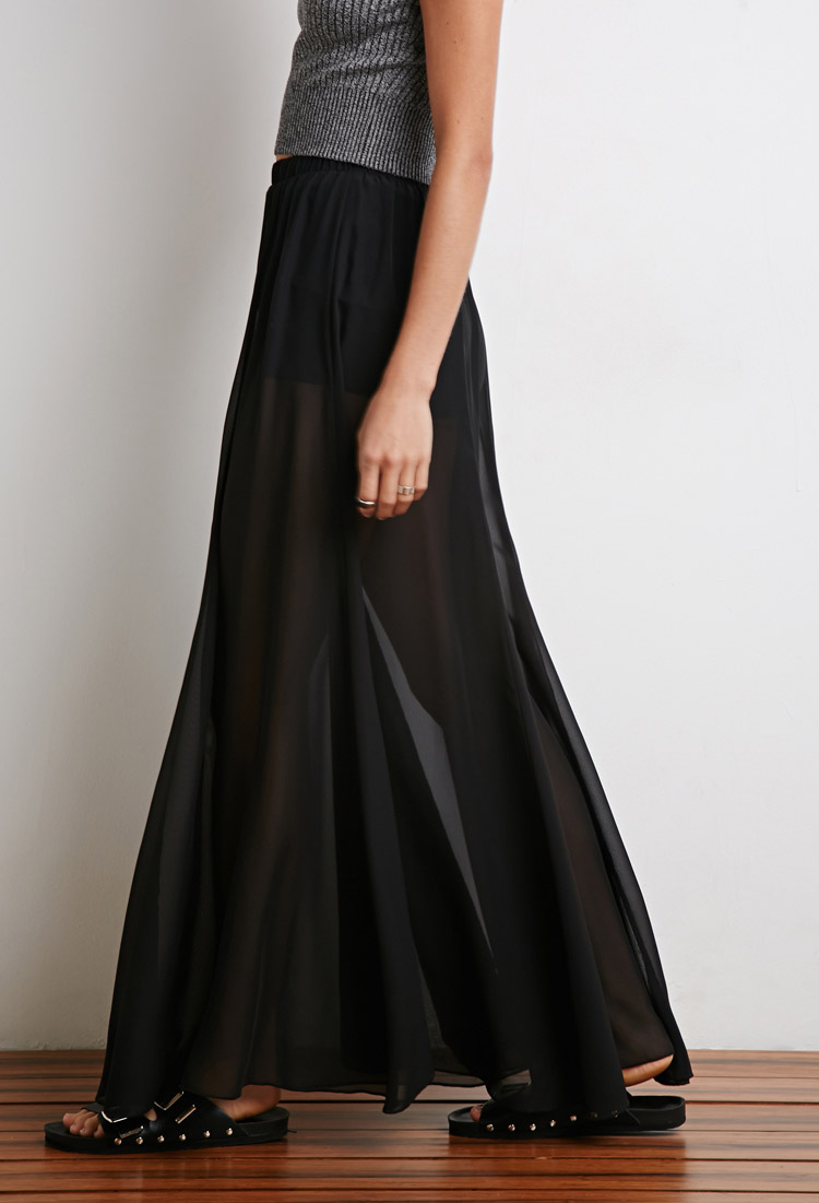 Sheer knicker maxi dress