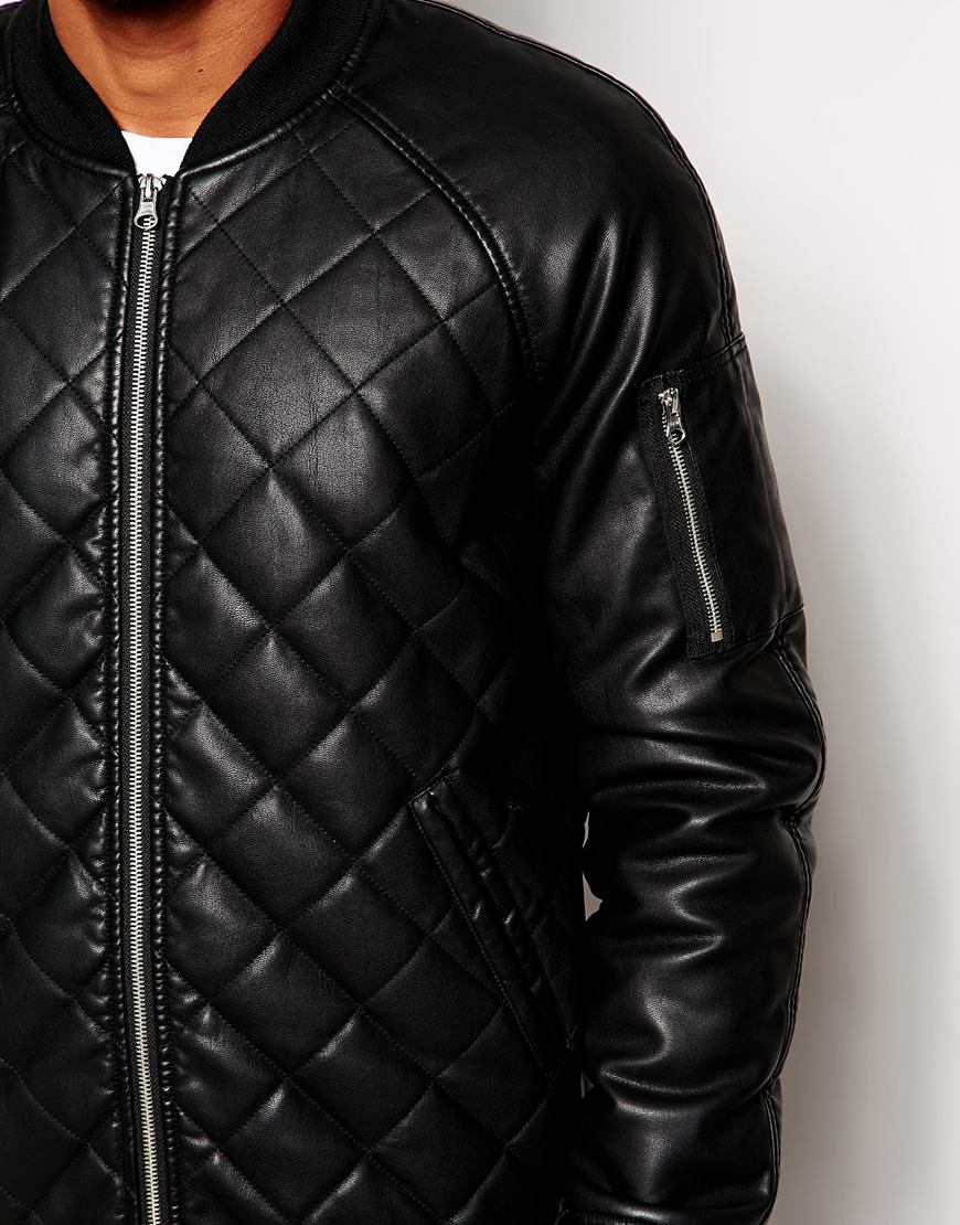 Quilted Leather Er Jacket Men - The Quilting Ideas