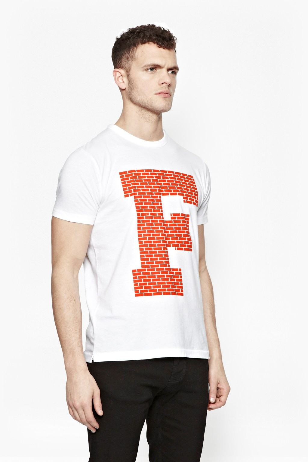 French connection brick f t shirt in white for men lyst for French connection t shirt dress