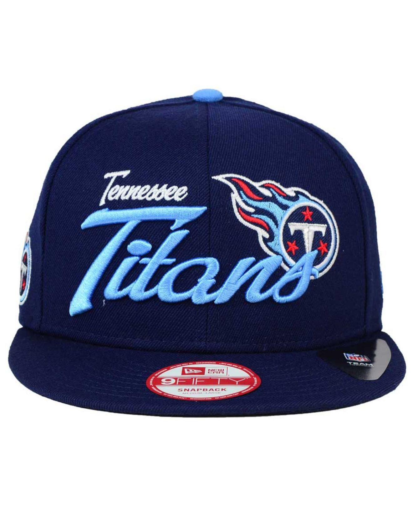 timeless design 40a63 fe8ed KTZ Tennessee Titans Chase Script Front 9fifty Snapback Cap in Blue ...