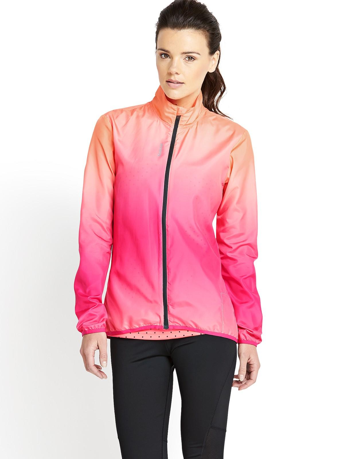 Reebok Running Jacket In Pink Multi  Lyst-5001