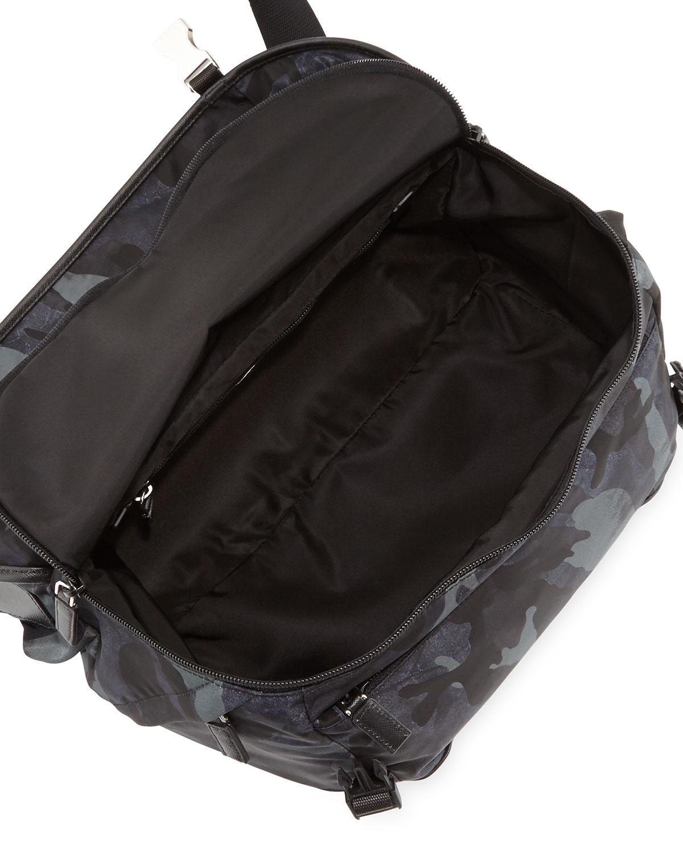 Prada Camo Nylon Medium Messenger Bag in Blue for Men | Lyst
