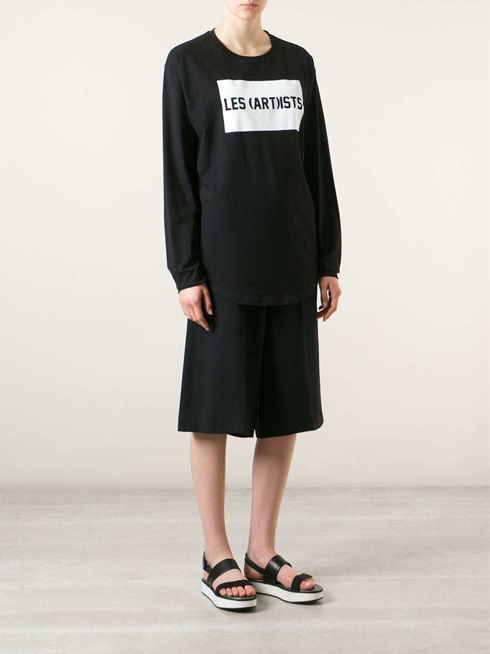 LES (ART)ISTS 'Dream Team Fashion' Sweatshirt in Black for Men