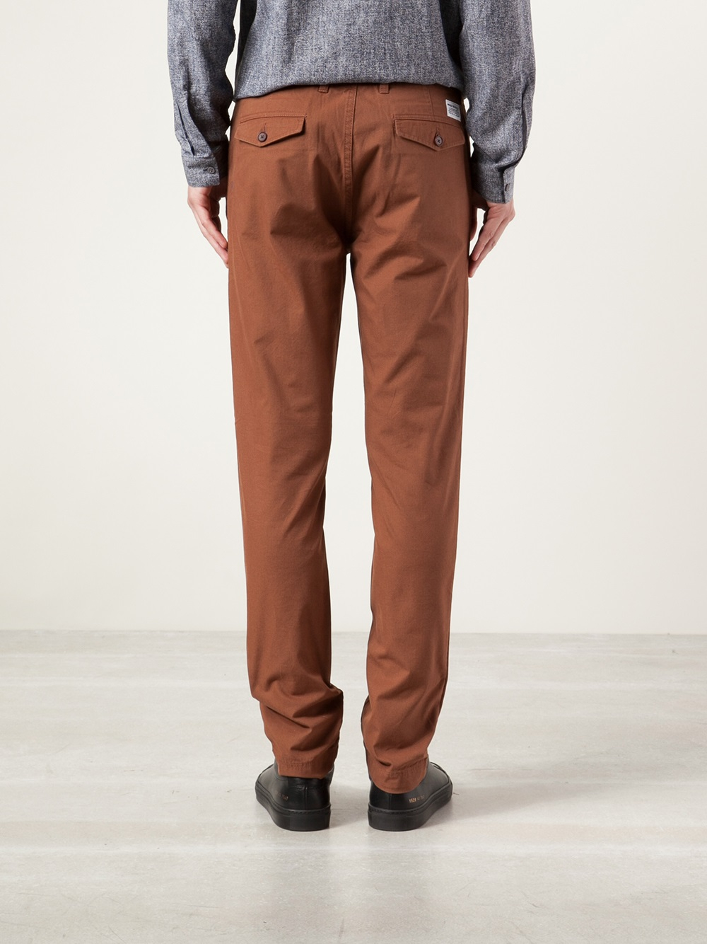 Norse Projects 'Arnkell' Trousers in Brown for Men