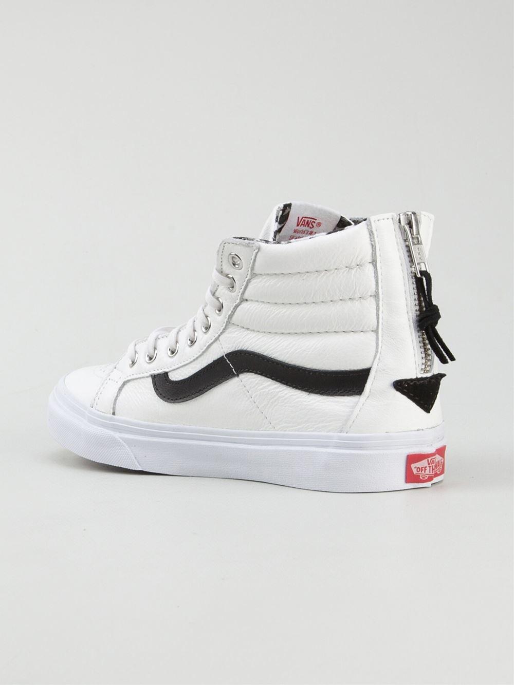 6fc1298805 Lyst - Vans  Sk8-Hi Slim Zip  Trainers in White