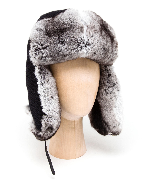 25a8b72abc0 Lyst Inverni Chinchilla Fur Lined Trer Hat In Black For Men