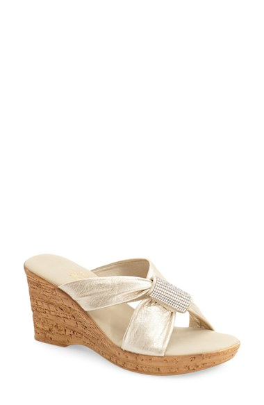 2033a63942 Lyst - Onex 'starr' Wedge Sandal in White