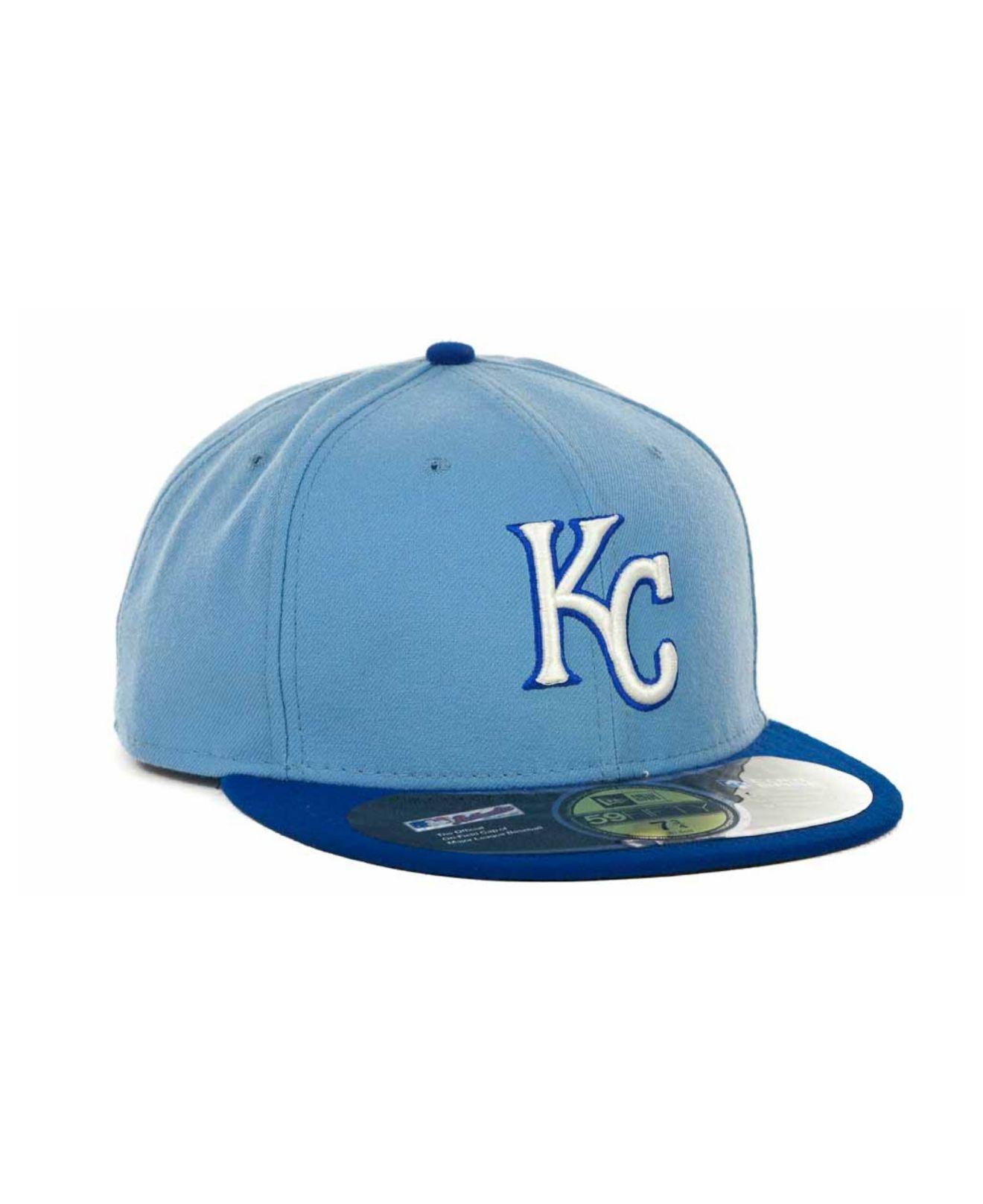98eb086a7 KTZ Blue Kansas City Royals Mlb Authentic Collection 59fifty Cap for men