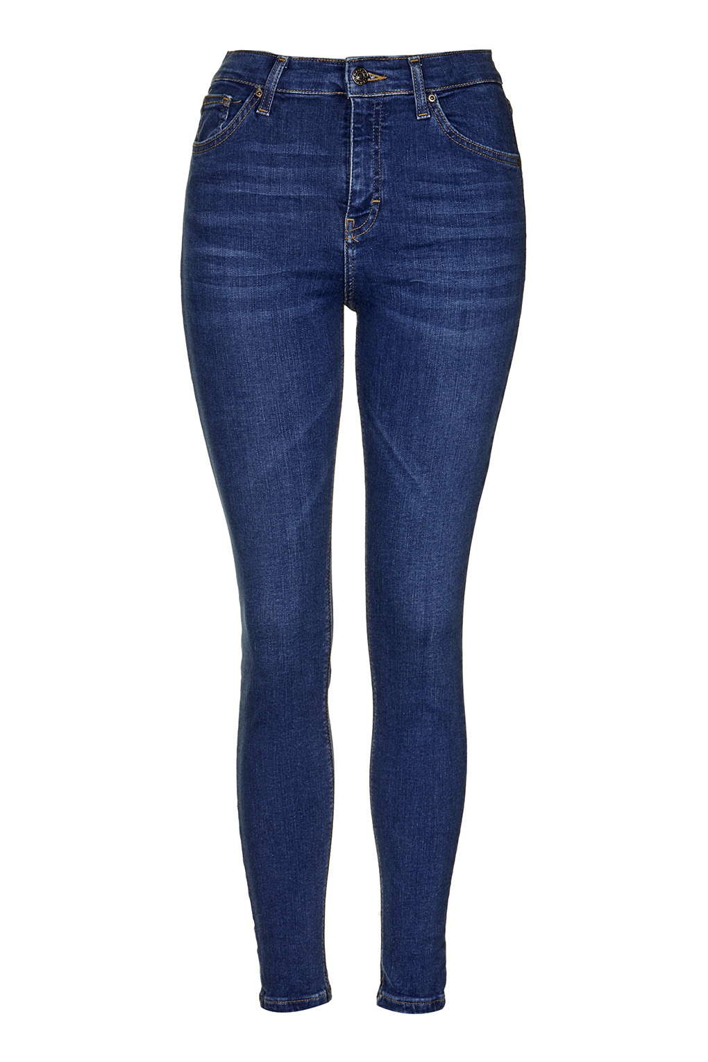 Topshop moto rich indigo jamie jeans in blue lyst for Womens denim shirts topshop