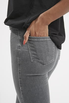 TOPSHOP Petite Moto Grey Joni Jeans in Grey