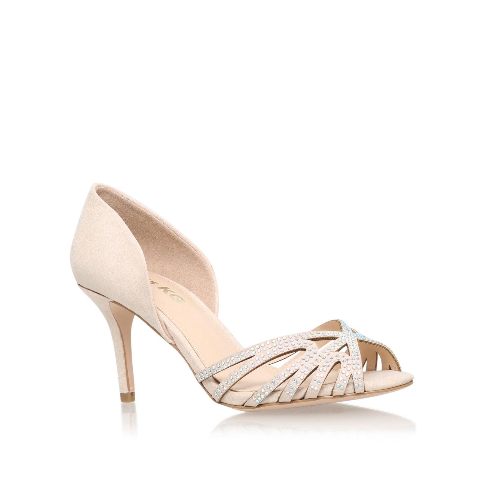 PHILIPPA2 Miss KG Philippa2 Nude Mid Heel Sandals by MISS KG