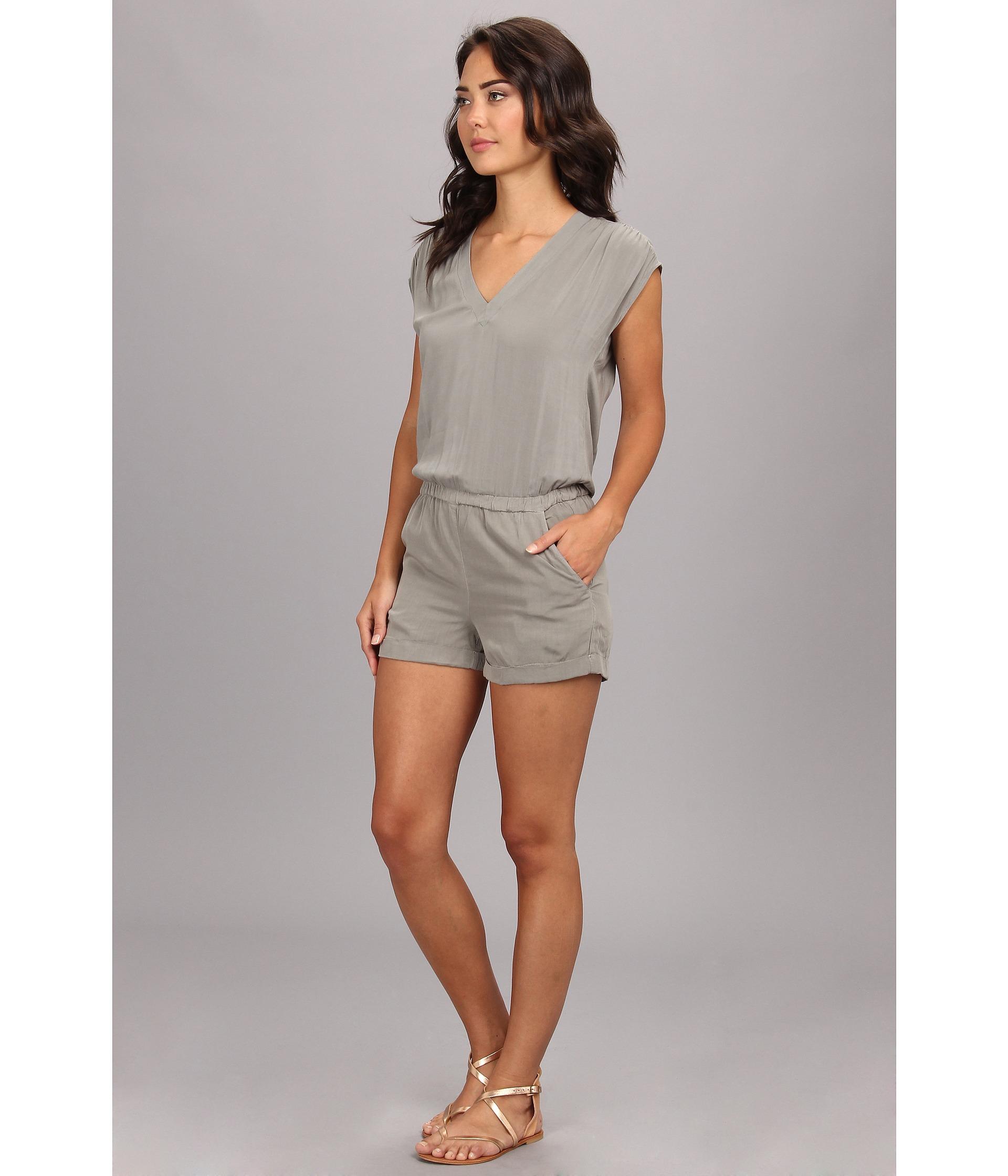 91ac783ba40 Lyst - Splendid Short Romper in Gray