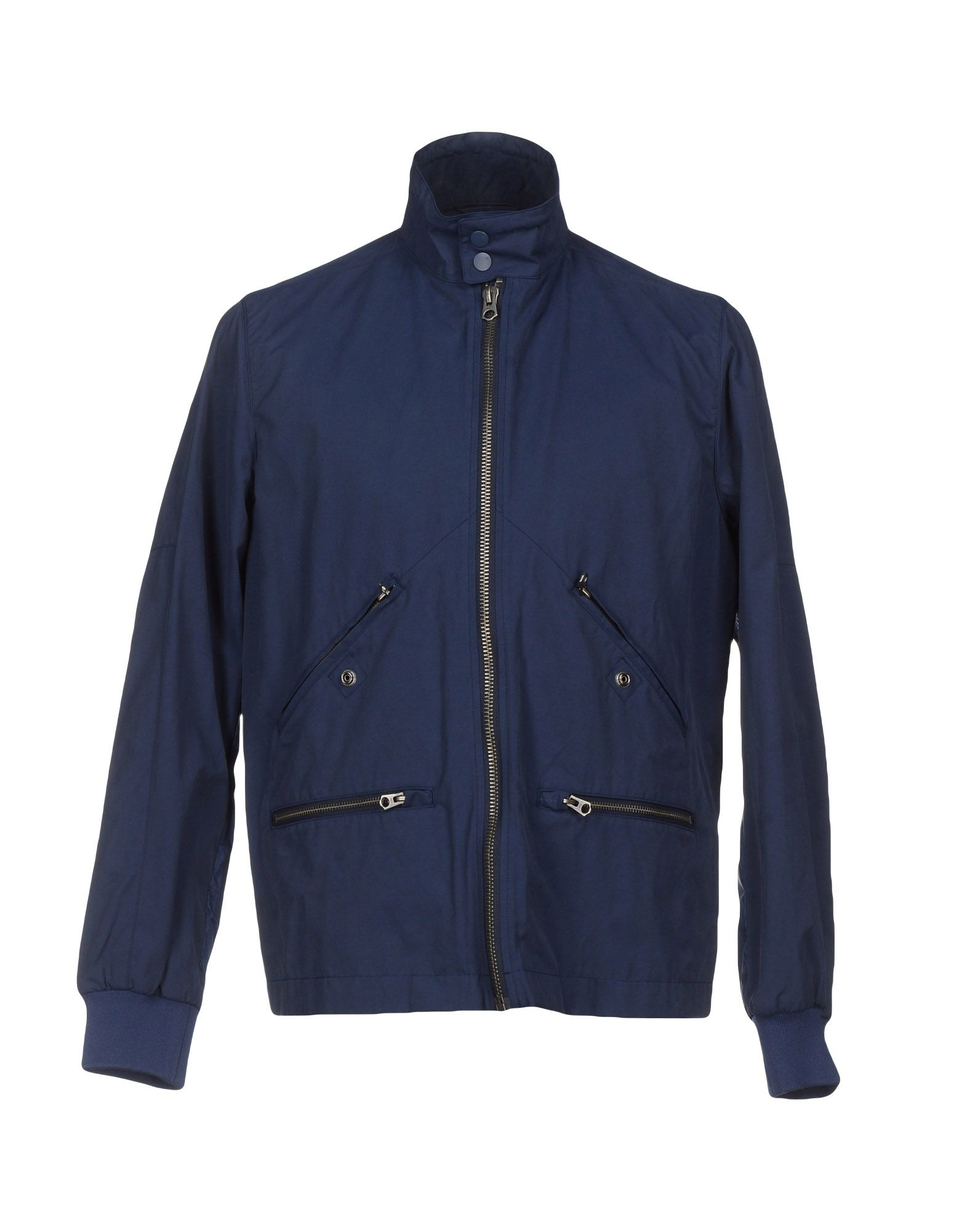 connection jacket in blue for lyst