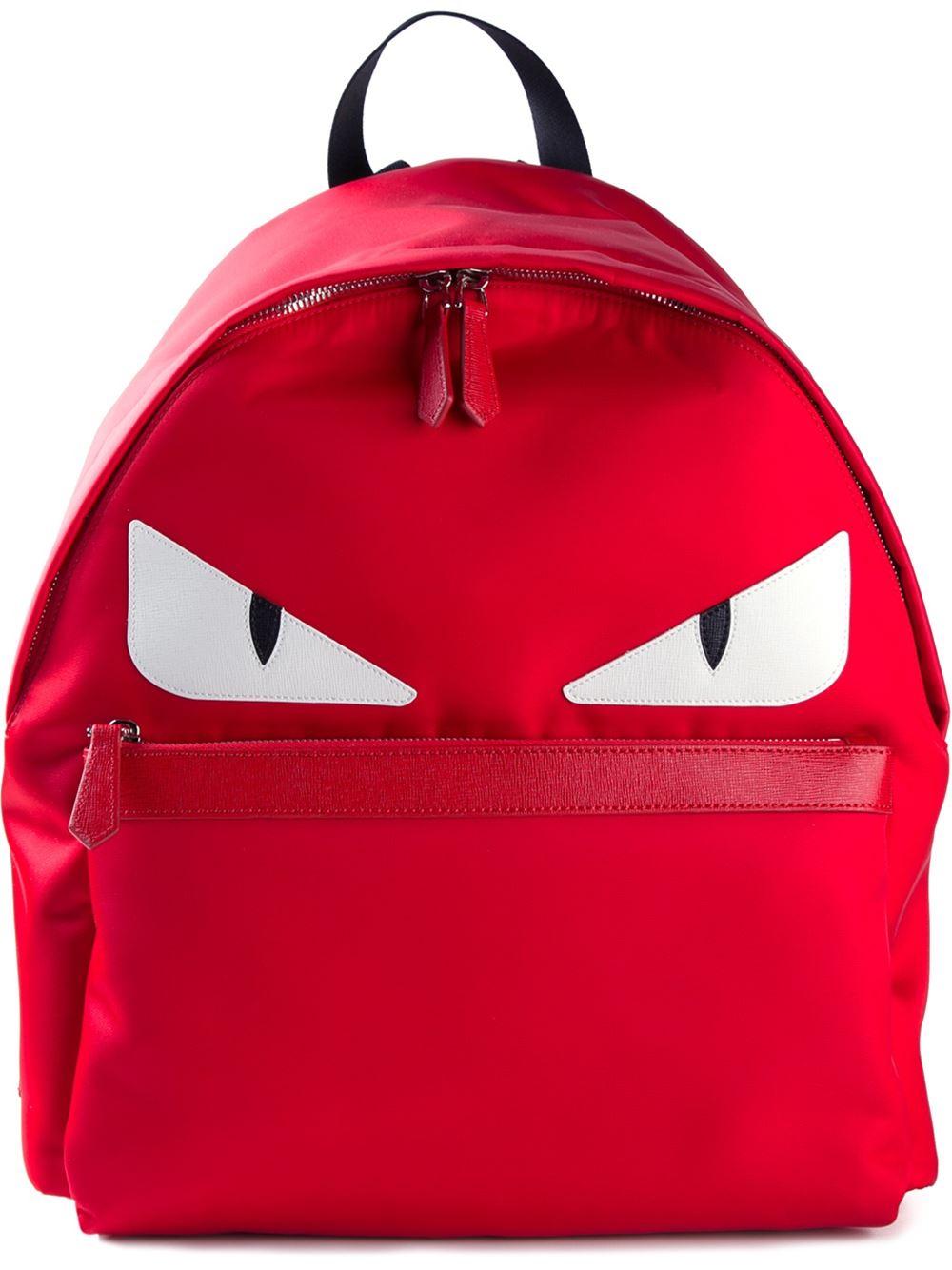 25c9af2ae178 Fendi Bag Bug Backpack Red| Perú Gustoso