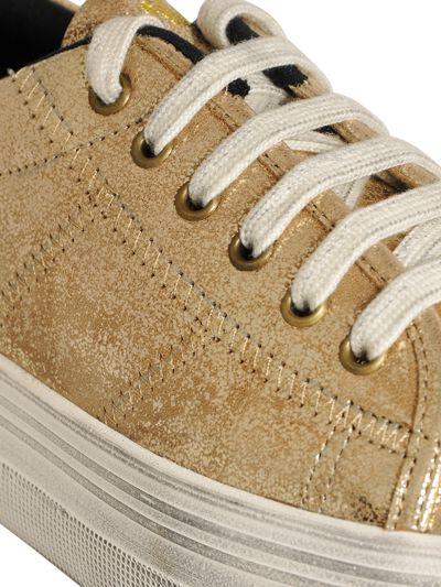 No Name 40Mm Metallic Leather Sneakers