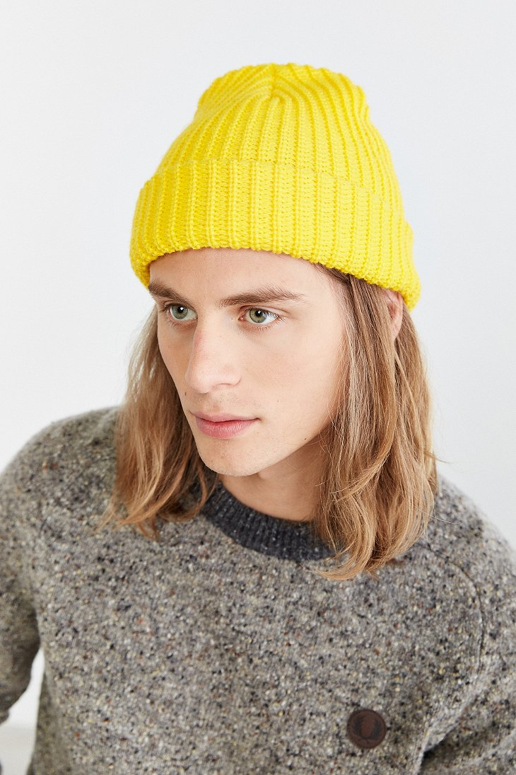 Lyst - Urban Outfitters Lumberjack Cuffed Beanie in Yellow 7b4054f1716