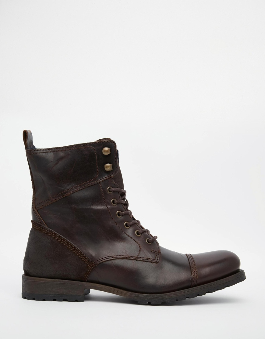 aldo graegleah leather derby boots in brown for lyst