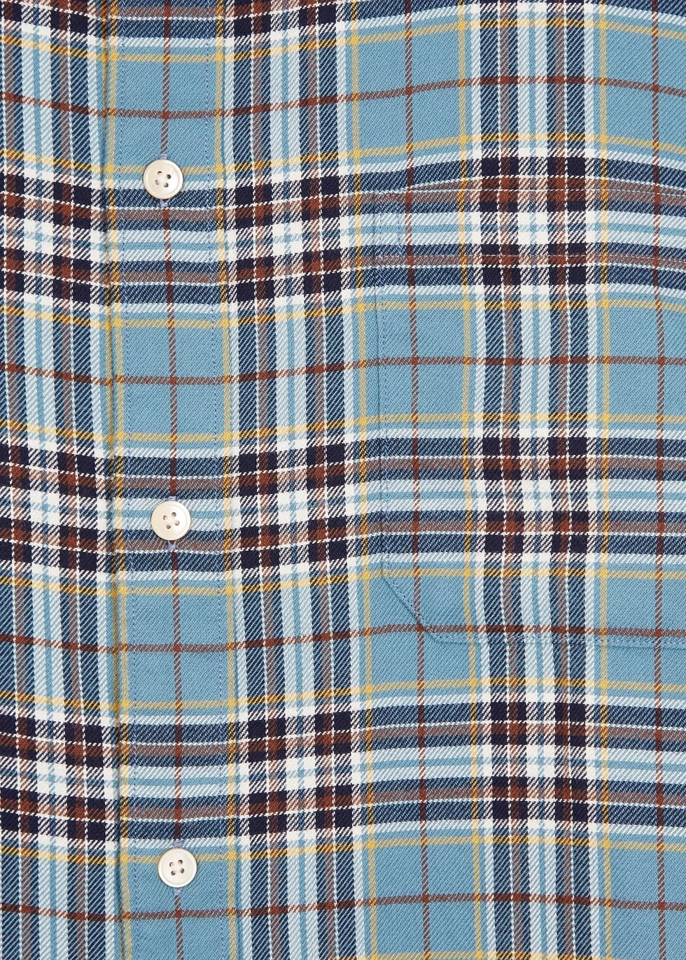 paul smith classic fit plaid cotton flannel shirt in blue for men lyst. Black Bedroom Furniture Sets. Home Design Ideas