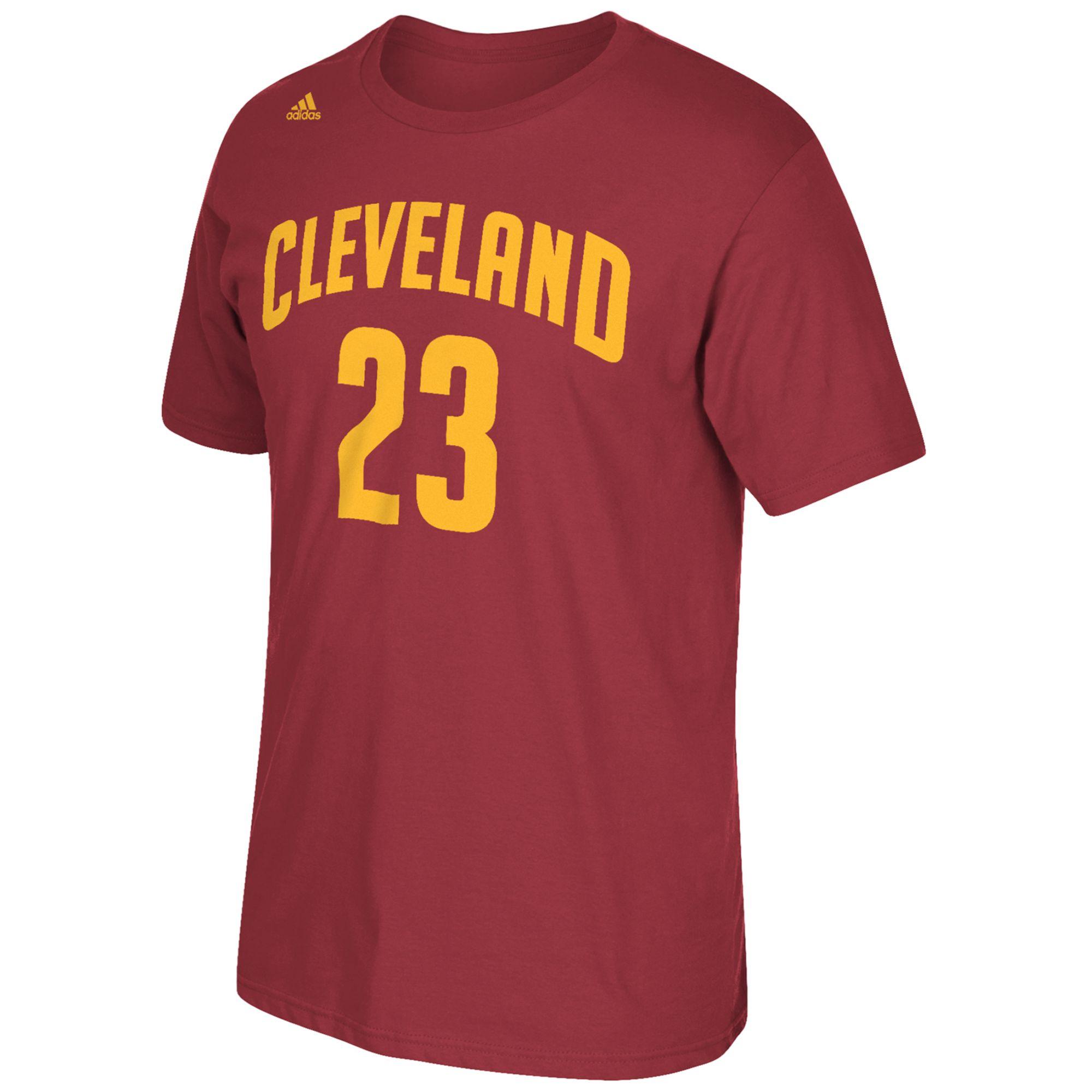 Adidas Men S Short Sleeve Lebron James Cleveland Cavaliers