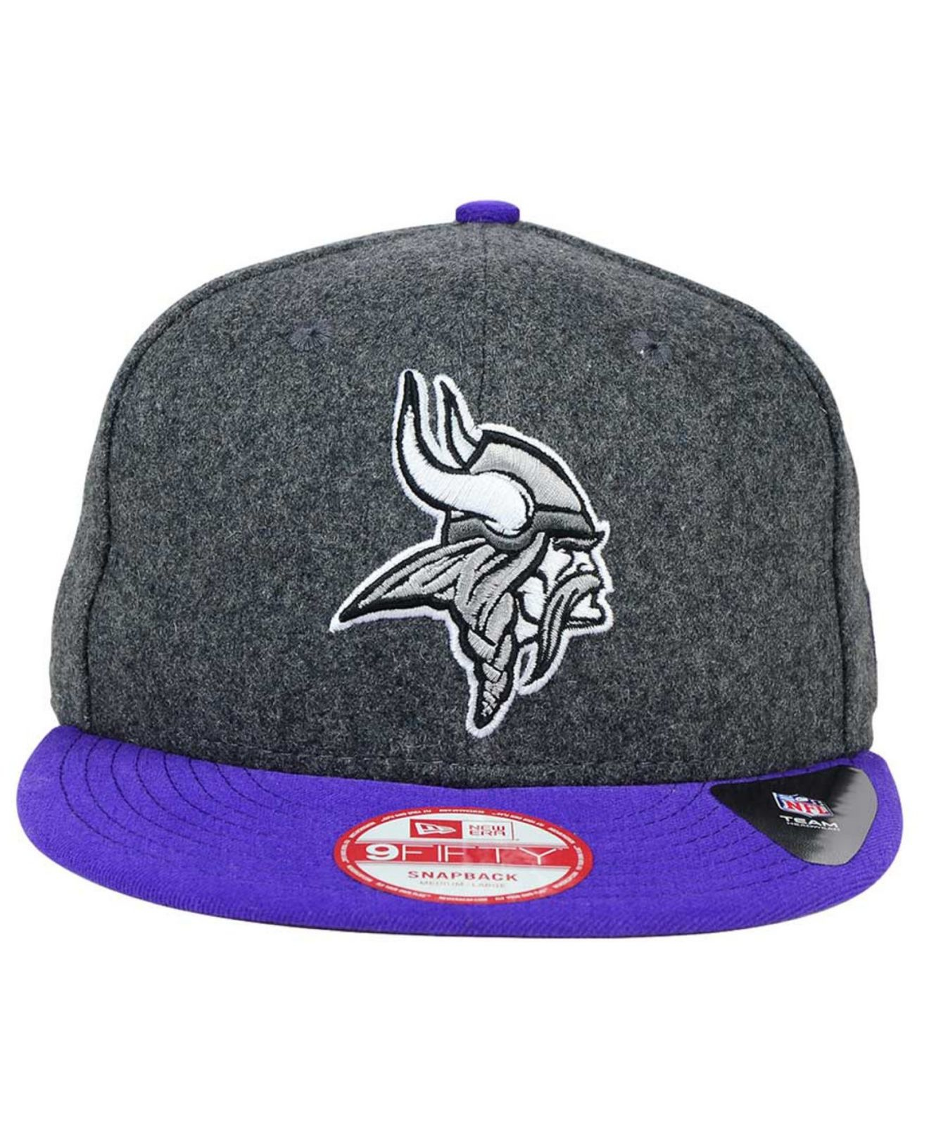 best sneakers e2144 6f151 Lyst - Ktz Minnesota Vikings Shader Melt 9fifty Snapback Cap in Gray ...