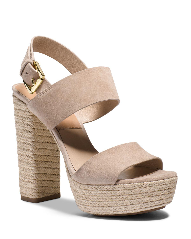 3a909f837 Michael Kors Espadrille Sandals - Summer High Heels in Natural - Lyst