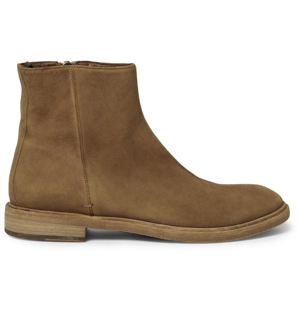 paul smith sullivan dip dye suede chelsea boots in brown