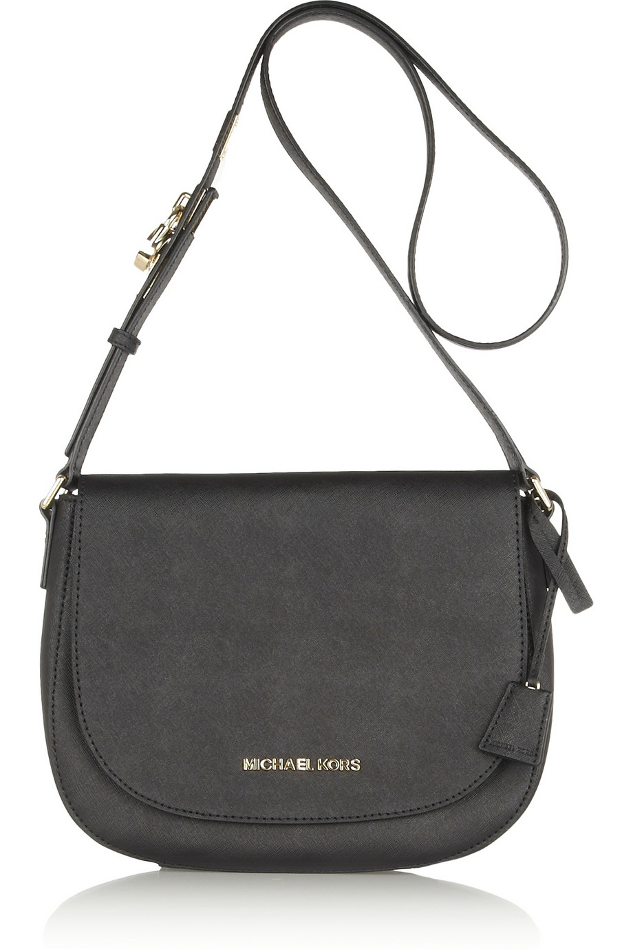 Michael michael kors Hamilton Large Textured-Leather Shoulder Bag ...