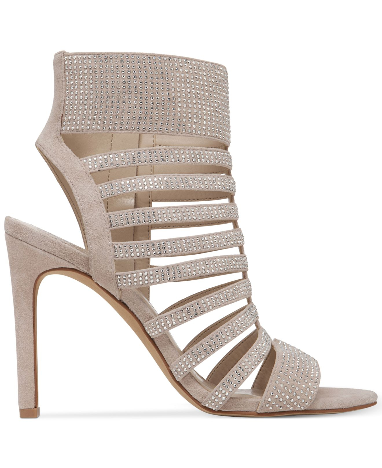 Lyst Vince Camuto Katal Gladiator Evening Sandals In Natural