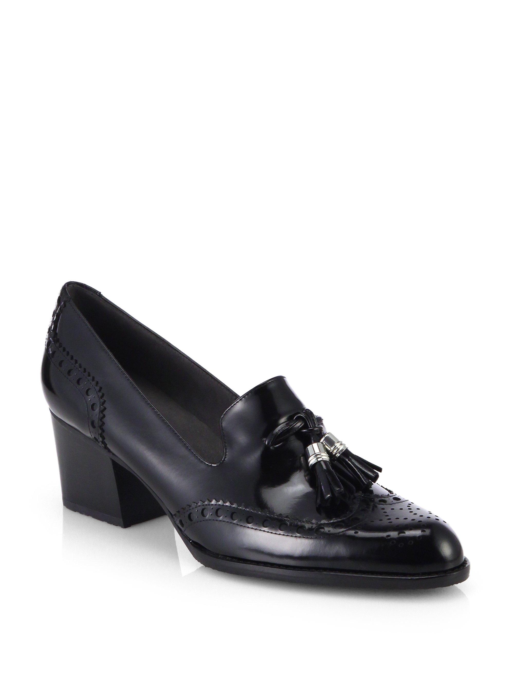 Lyst Stuart Weitzman Girlthing Leather Tassel Loafer