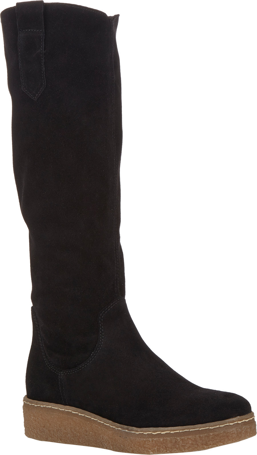 barneys new york pull on platform wedge boots in black lyst