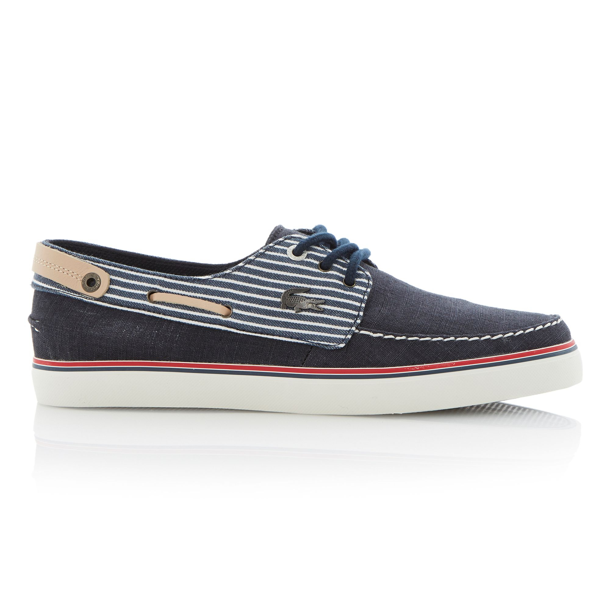 Lacoste Black Leather Boat Shoes