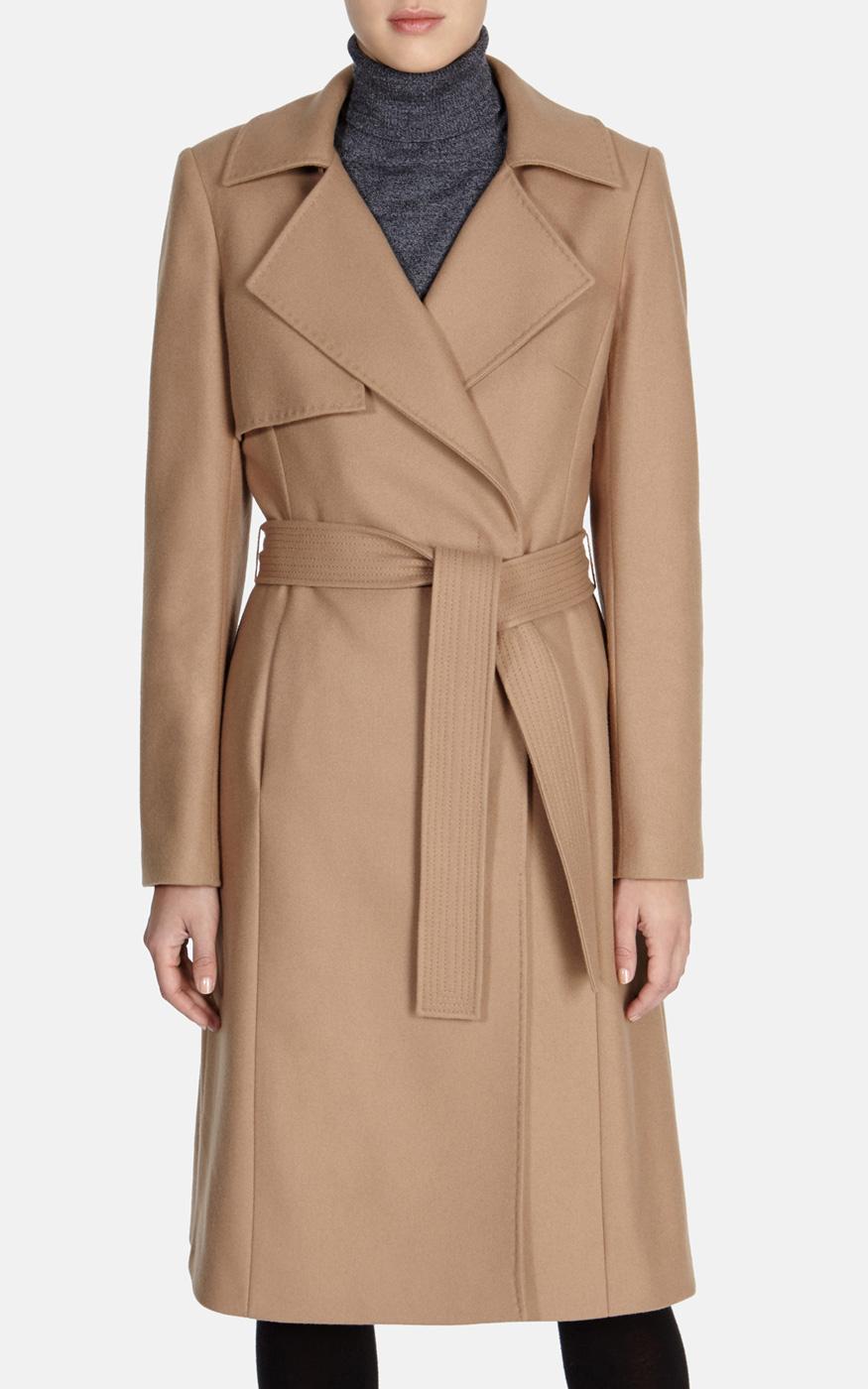 new design limpid in sight enjoy lowest price Karen Millen Ultimate Camel Coat in Natural - Lyst