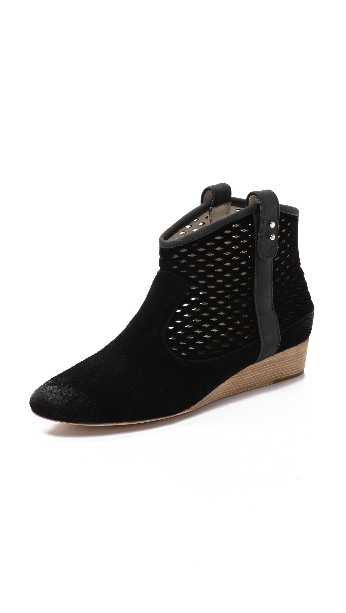 Black Casual Wedge Shoes