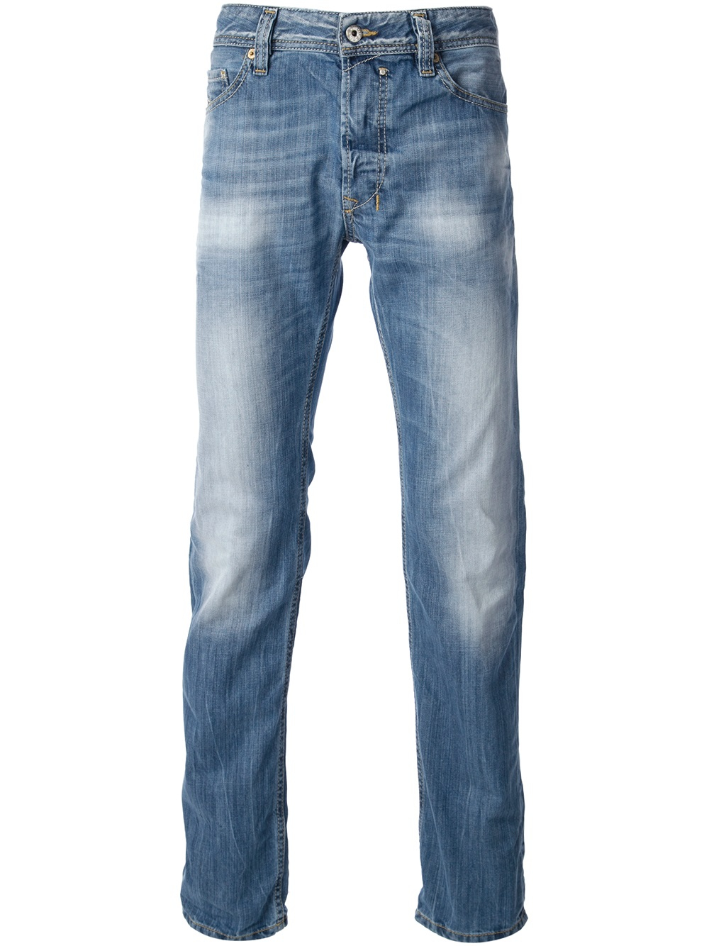 diesel stone washed jeans in blue for men lyst. Black Bedroom Furniture Sets. Home Design Ideas